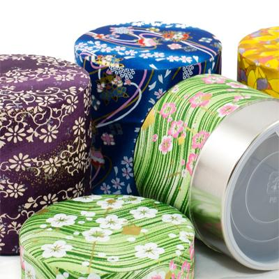 Assorted Washi Tea Canisters