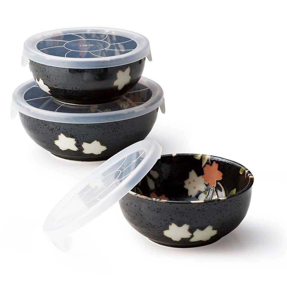 Hana Nagomi 3 Lid Bowls Set