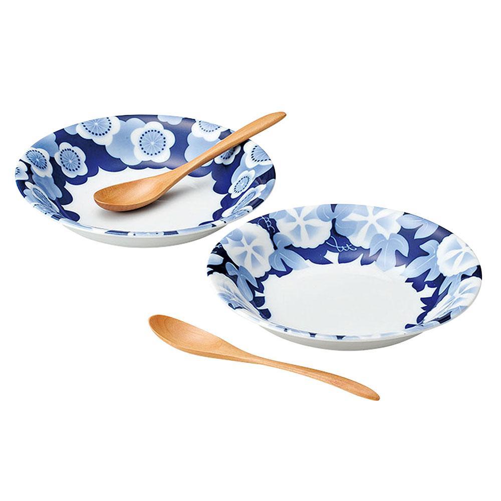 Hana Ruri Bowl & Spoon Set (2)