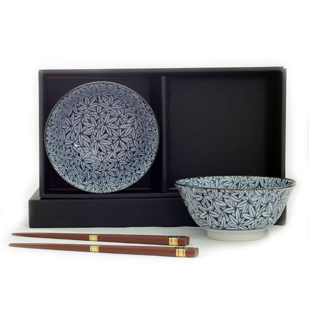 Maple 2 Bowl Set/chopsticks