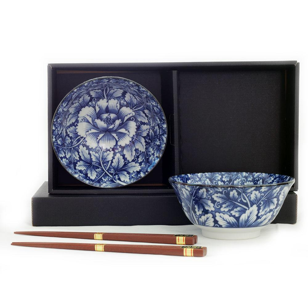 Botan 2 Bowl Set/chopsticks