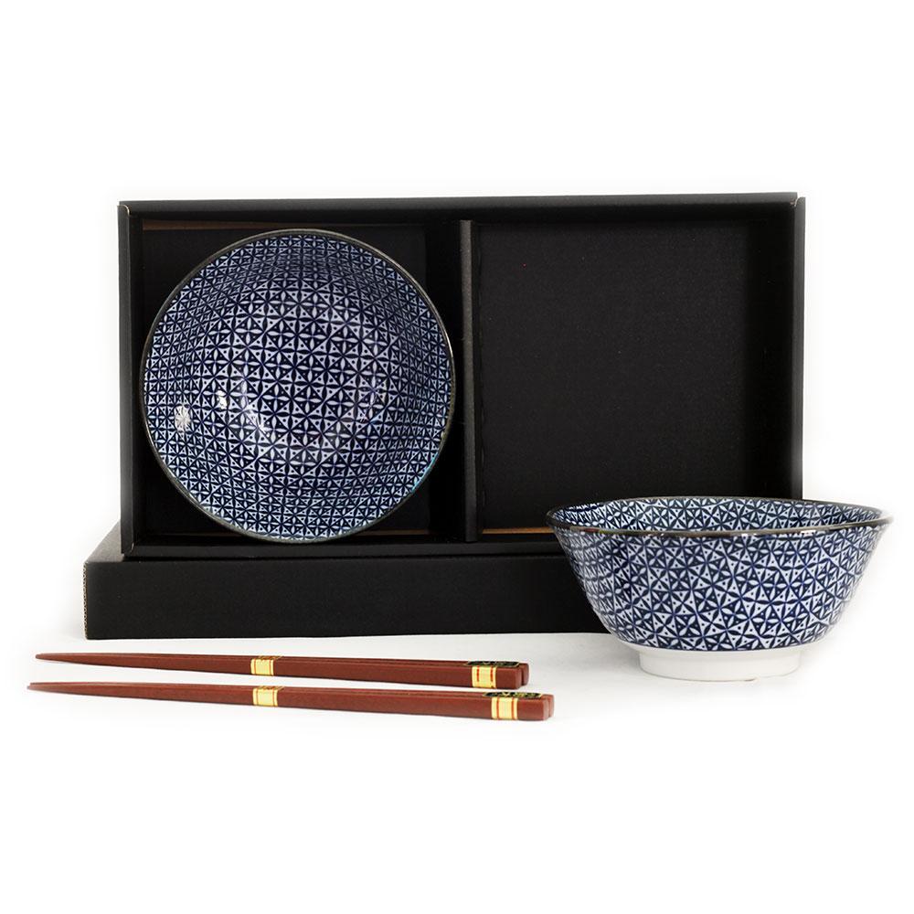 Shippou 2 Bowl Set/chopsticks
