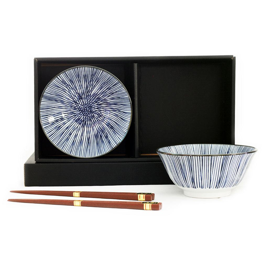 Togusa 2 Bowl Set/chopsticks