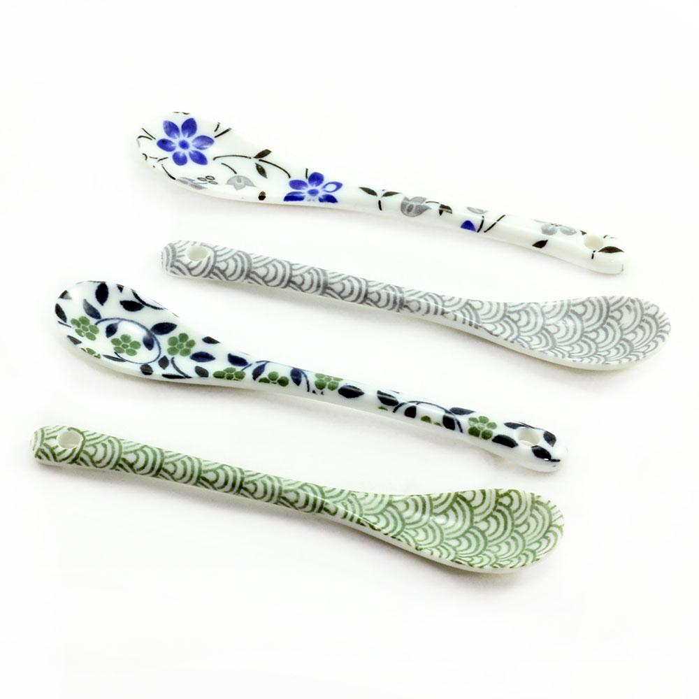 Hana Wave Ceramic Spoon Set(4)