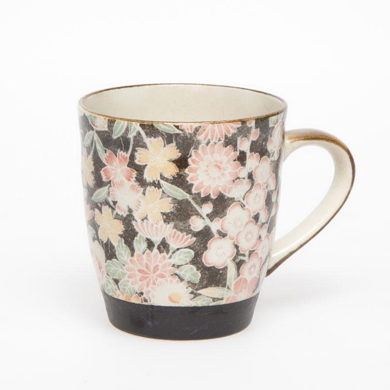 Hana Yuzen Black Tea Mug