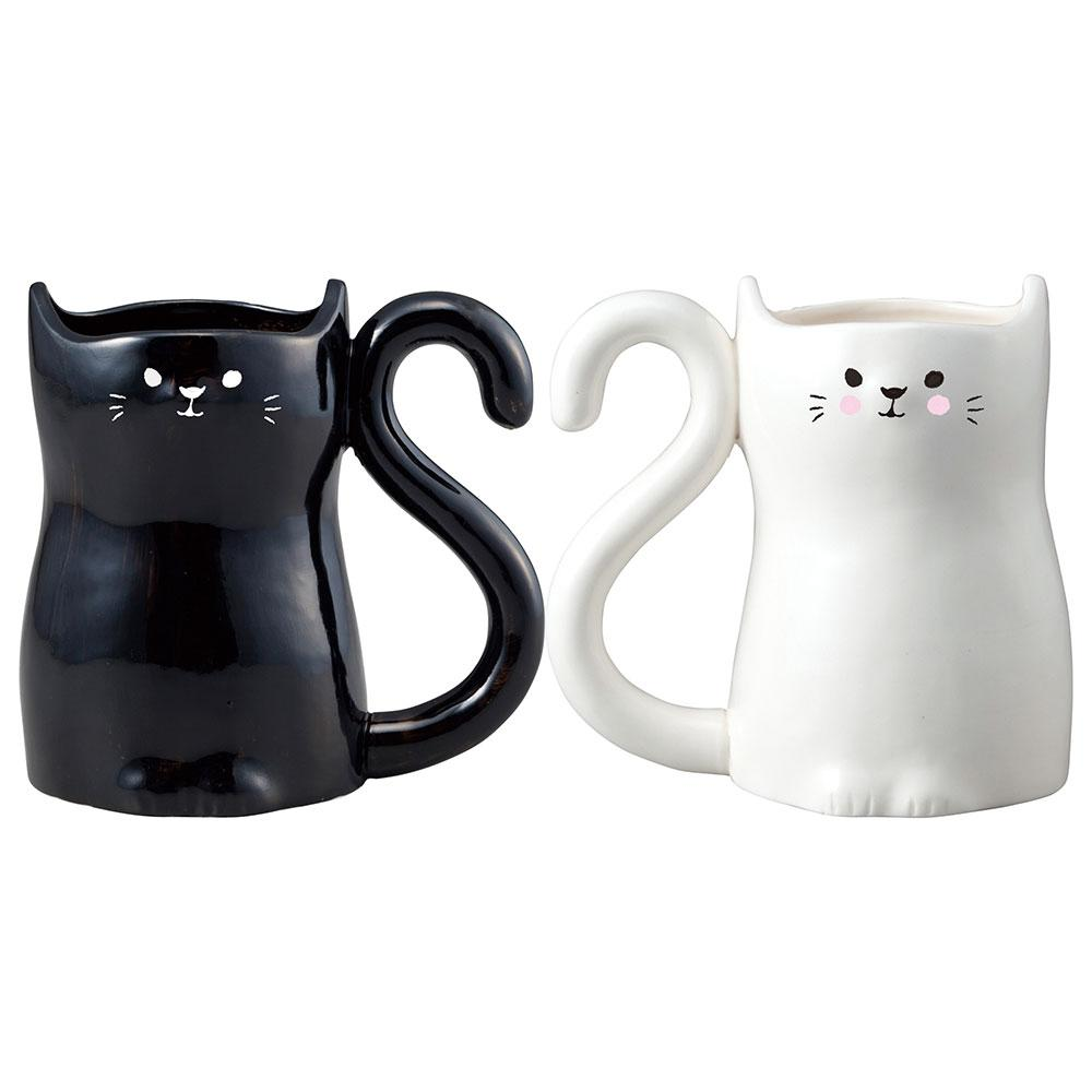 Cat Heart Pair Mugs