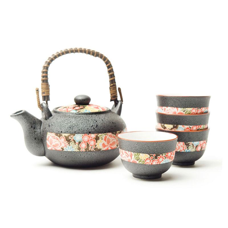 Shiki Yuzen Tea Set 4 Cups Japanese Tea Wares Japanese