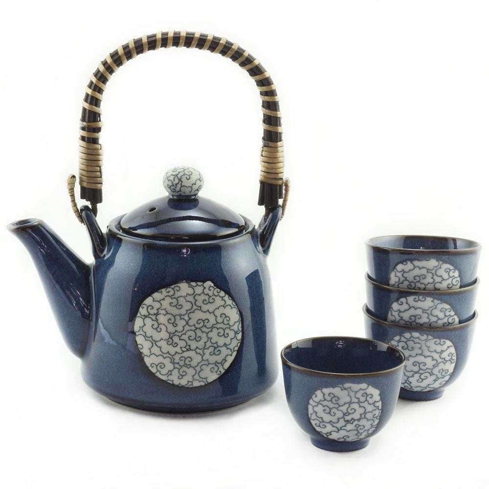 Edo Blue Clouds *4 Cup Tea Set