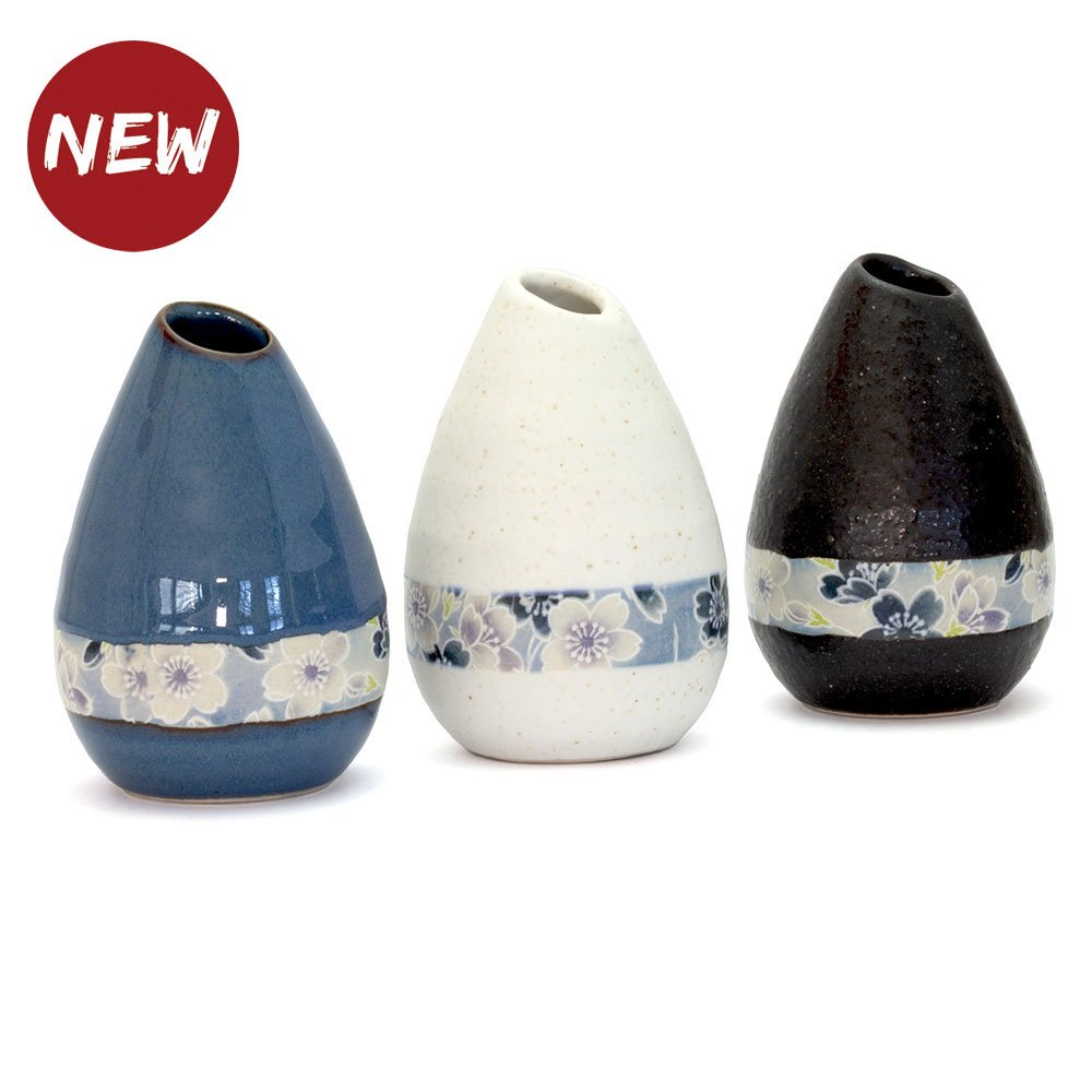 Sakura Zome Teardrop Vase