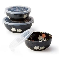 Hana Nagomi 3 Lid Bowls Set - Click for more info