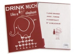 Drink Much A4 Clear File - Click for more info