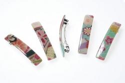 Kimono Rectangle Barrette - Click for more info