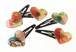 Kimono Heart Hair Clip - Click for more info
