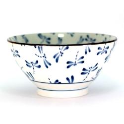 Dragonfly White 18cm Bowl (4/b