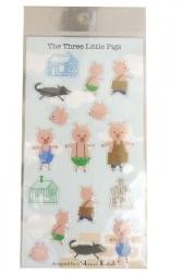 3 Little Pigs-Sticker Sheet - Click for more info