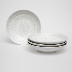 Shirayuki 23cm Bowl (4/box) - Click for more info