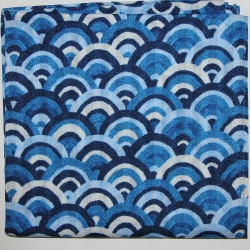 Japanese Kerchief Blue Waves - Click for more info