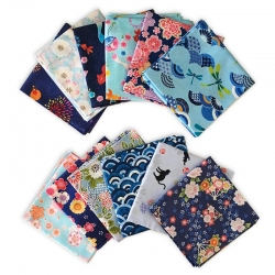 Japanese Kerchief BLUE Assort - Click for more info