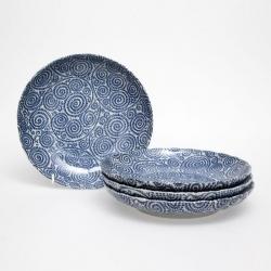 Spiral 23cm Lge Plate (4/box)