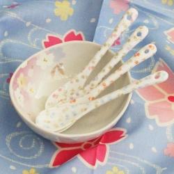 Pretty Petal Ceramic Spoons(4)