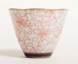 White Kusa RED Cone Cup