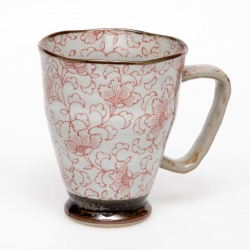 White Kusa RED Large Mug - Click for more info