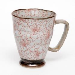 White Kusa RED Large Mug