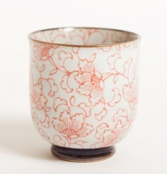 White Kusa RED Straight Cup - Click for more info