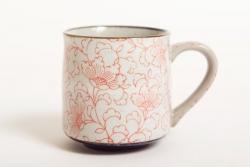 White Kusa RED Tea Mug