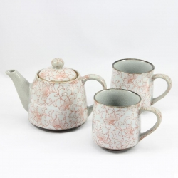 White Kusa RED TEA MUG T for 2