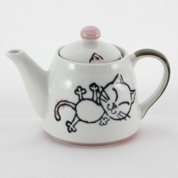 Crayon Cat Pink Teapot - Click for more info