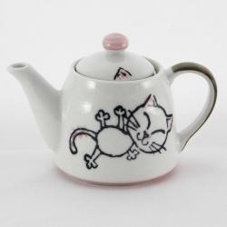 Crayon Cat Pink Teapot