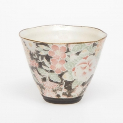 Hana Yuzen Black Cone Cup - Click for more info