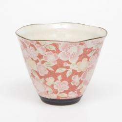 Sakura Yuzen Red Cone Cup