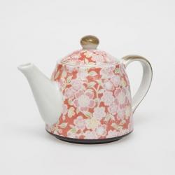 Sakura Yuzen Red Teapot - Click for more info