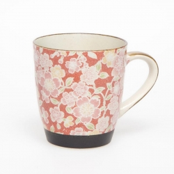 Sakura Yuzen Red Tea Mug