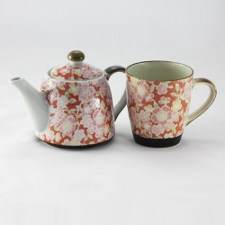 Sakura Yuzen Red TEA MUG T for