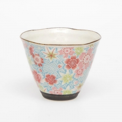 Kanoko Yuzen Blue Cone Cup - Click for more info