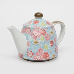 Kanoko Yuzen Blue Teapot - Click for more info