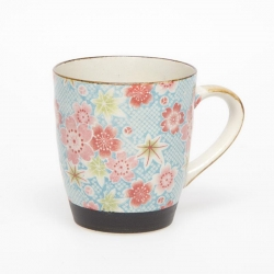 Kanoko Yuzen Blue Tea Mug - Click for more info