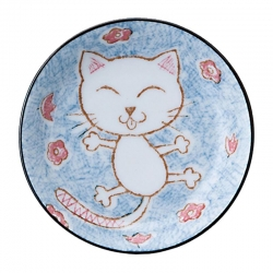 Crayon Cat Blue 16.5cm Dish (6 - Click for more info
