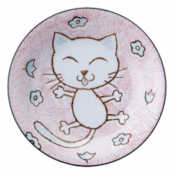 Crayon Cat Pink 16.5cm Dish (6 - Click for more info
