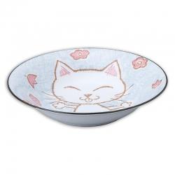 Crayon Cat Blue 21cm Bowl (5) - Click for more info