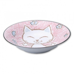 Crayon Cat Pink 21cm Bowl (5) - Click for more info