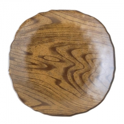 Wood Look Light 24cm Plate (4)