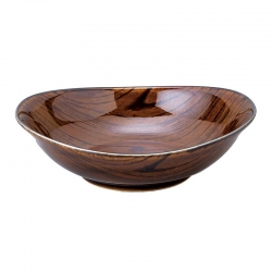 Wood Look Dark 15cm Bowl (6) - Click for more info