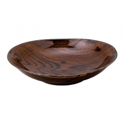 Wood Look Dark 21cm Bowl (4)