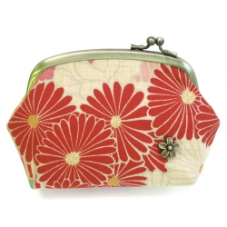 Retro 16cm Clasp Pouch RED - Click for more info