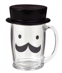 Top Hat Glass Mug - Click for more info