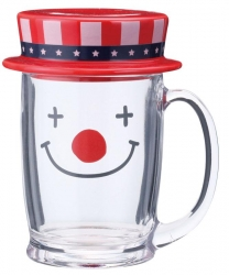 Clown Glass Mug - Click for more info